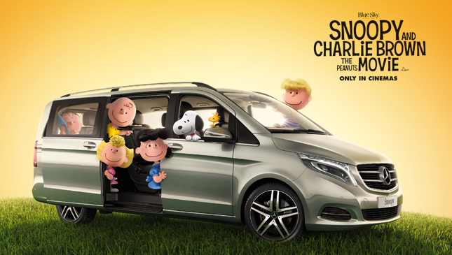 Mercedes-Benz V-Class with Snoopy