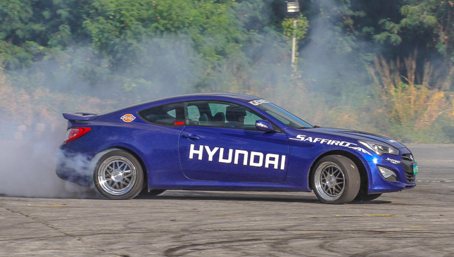 We Take Part In A Drifting Class Behind The Wheel Of The Hyundai