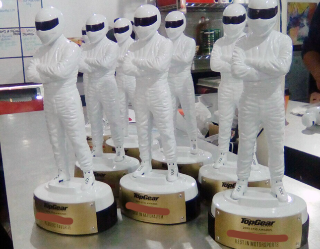 Stig Awards trophies