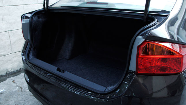 Honda City trunk