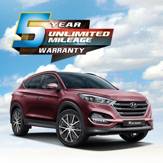 Hyundai 5-year unlimited warranty