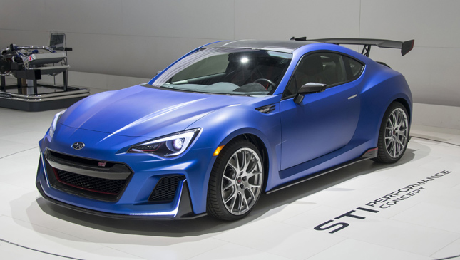 Subaru display at Tokyo Auto Salon