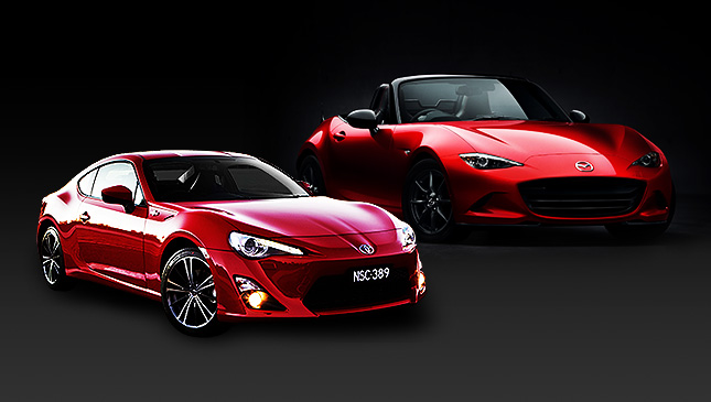 Mazda MX-5 and Toyota 86