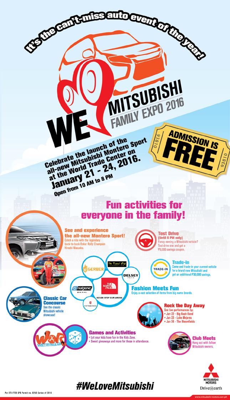 Mitsubishi Family Expo poster