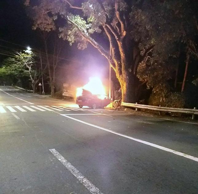 Tagaytay car crash
