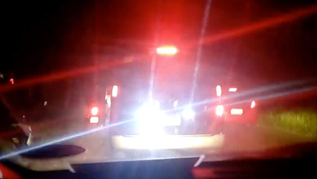 Blinding car lights