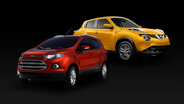 Nissan Juke and Ford Ecosport