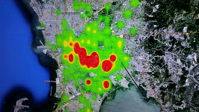 Grab demand heat map