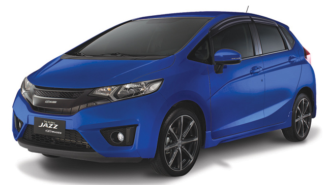 Cool Blue Honda Jazz Mugen edition