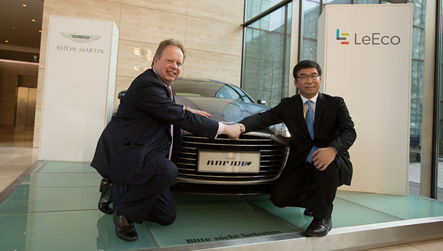 Aston Martin and Leeco executives