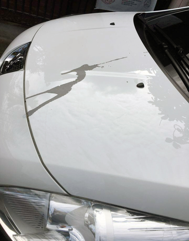Vandalized Peugeot 3008 in Abreeza Davao Mall