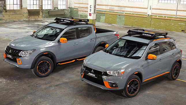 So Mitsubishi came out with matching concept versions of the ASX and the Strada