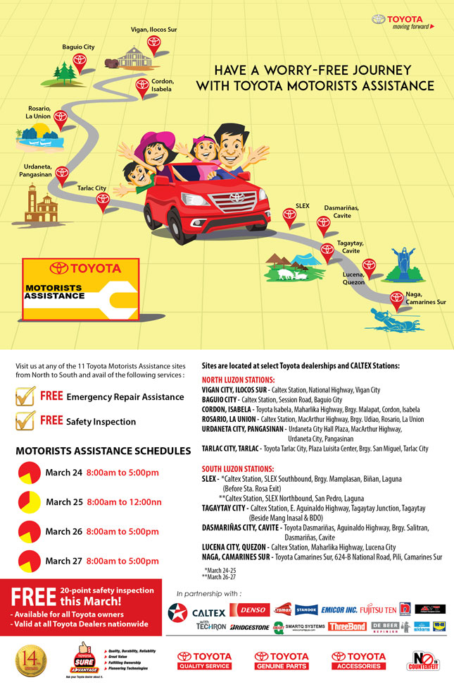 Toyota Sta Rosa >> Holy Week roadside assistance bulletin: Toyota
