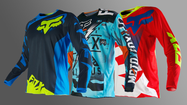 Fox Racing jerseys