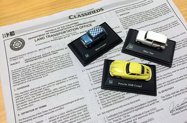 LTO registration of vintage motor vehicles