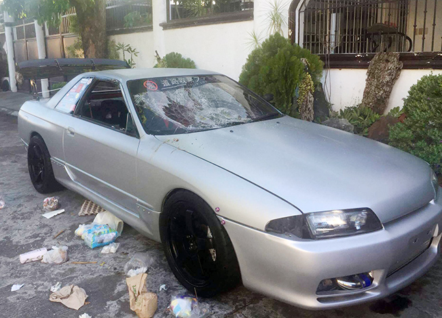 Car-thrashing in BF Homes, Parañaque