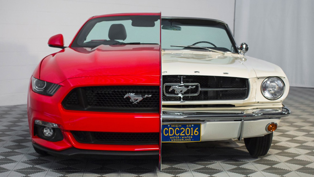Mustang 50th anniversary display