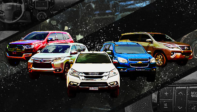 Chevrolet Trailblazer vs. Ford Everest vs. Isuzu MU-X vs. Mitsubishi Montero Sport vs. Toyota Fortuner