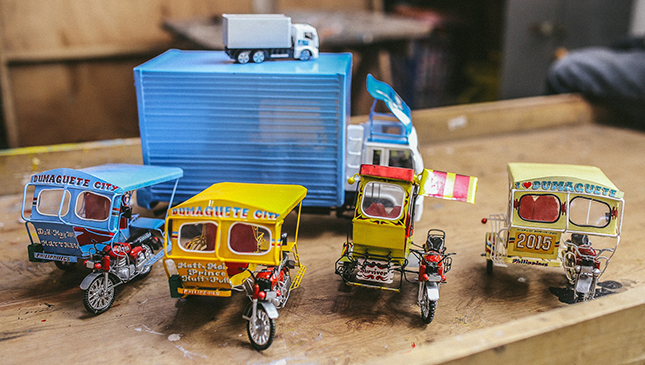 Tricycle scale models in Dumaguete
