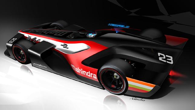 Formula E racer
