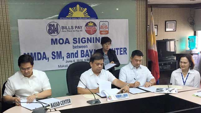 SM and Bayad Center payment of MMDA traffic penalties