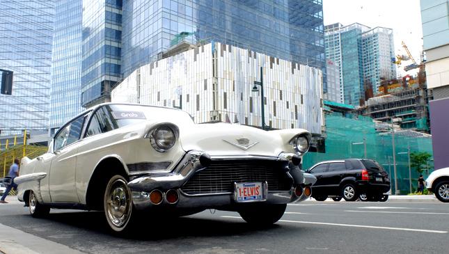 Grab vintage car