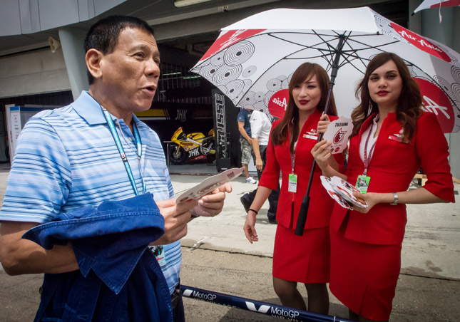 Rodrigo Duterte at MotoGP race