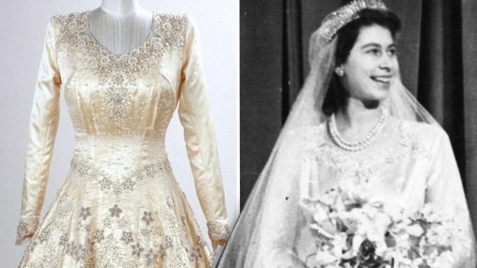 The True Story of Queen Elizabeth\'s Wedding Dress | T&C Ph