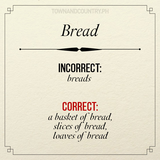Etiquette plural