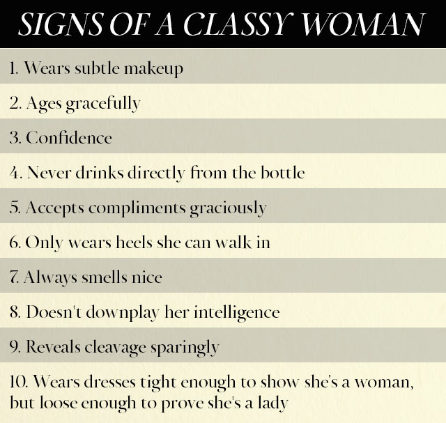 Great characteristics of a woman