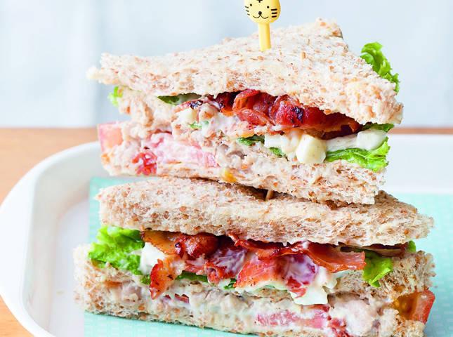 Whole Wheat Chicken Club Sandwiches Recipe