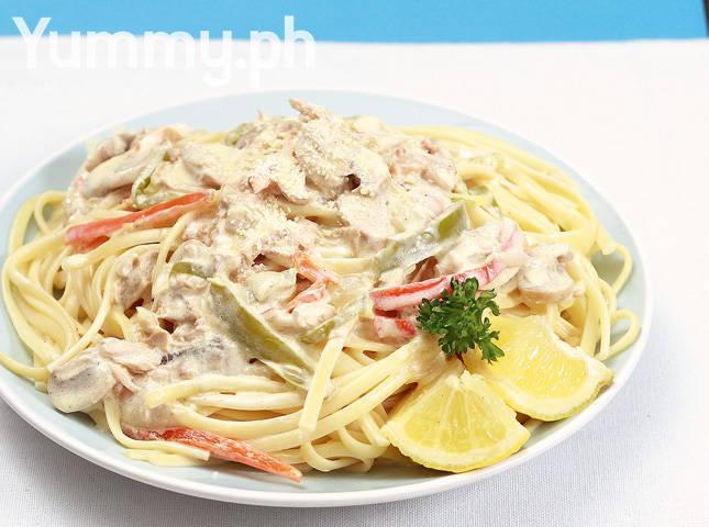 Creamed Tuna And Mushroom Pasta