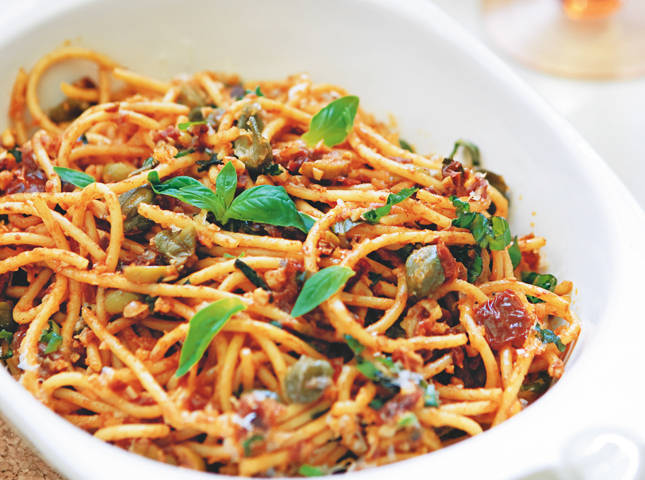 Angel Hair Pasta With Sun Dried Tomato