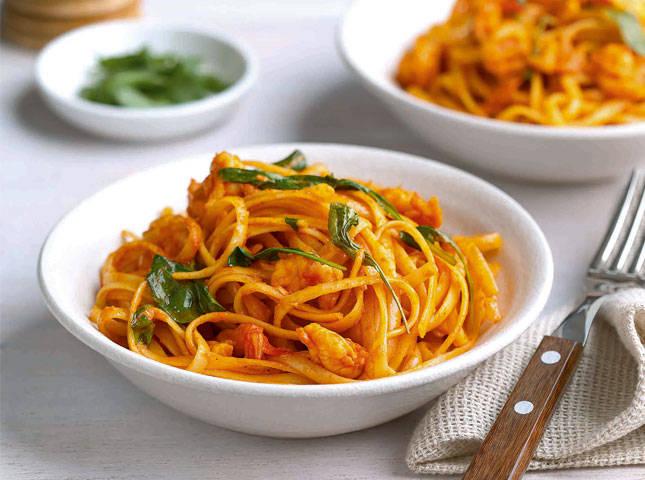 Pasta in Shrimp Pink Sauce Recipe