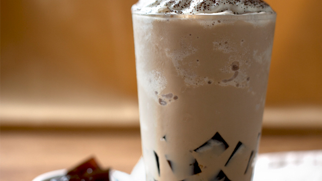 Latte with Coffee Jelly Recipe