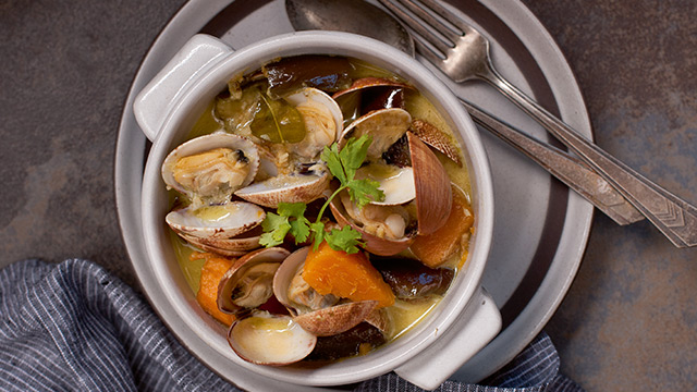 Green Curry Clams Recipe