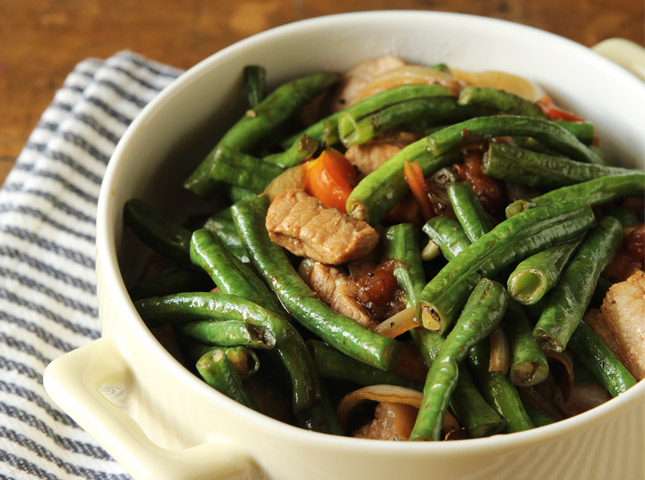 Adobong sitaw adobo style string beans recipe forumfinder Images