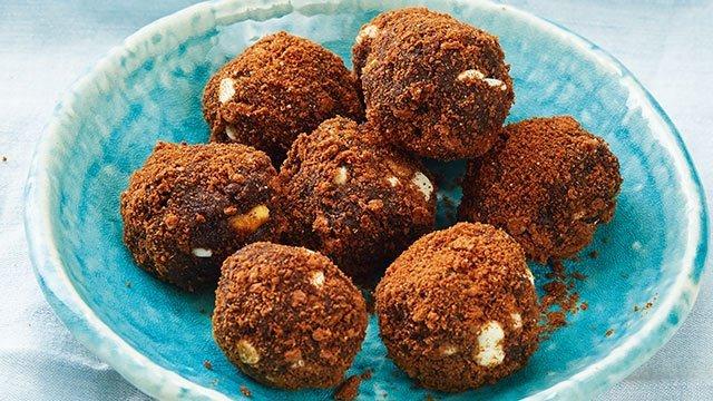 no-bake brownie balls