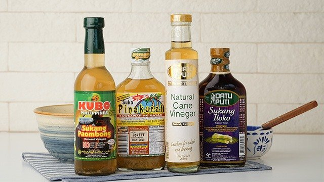 Filipino vinegar can vary from variants that are made from coconut to sugar canes.