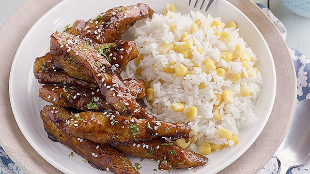 Chicken Teriyaki with Sweet Corn Rice Recipe