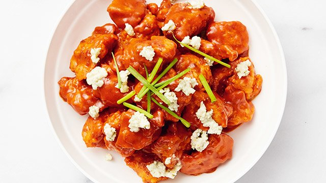 Buffalo sauce is a seasoned hot sauce that would pair deliciously with almost any fried chicken.