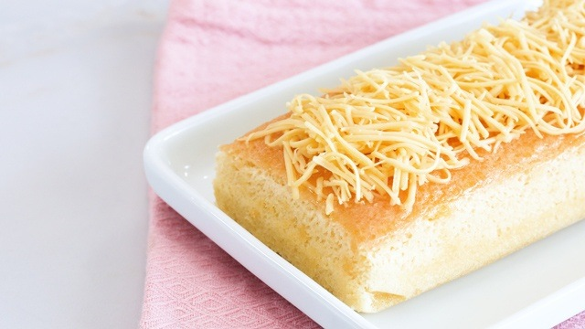 Chiffon cake with cheese also known as a Taisan loaf cake.