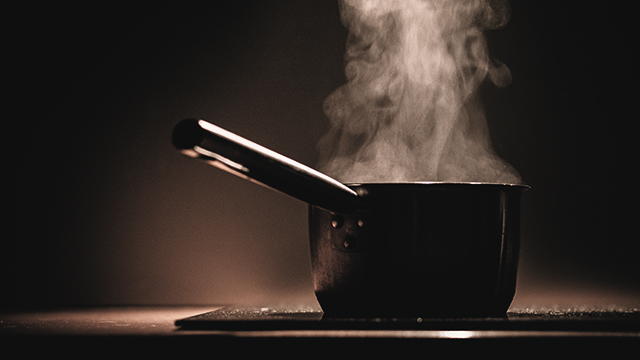 Steaming, simmering water is different from boiling water.
