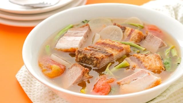 This recipe mashup of a lechon kawali and a sinigang na baboy is a genius move.
