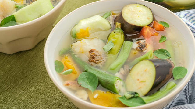 This regional dish is a simple soup recipe with lots of local vegetables.