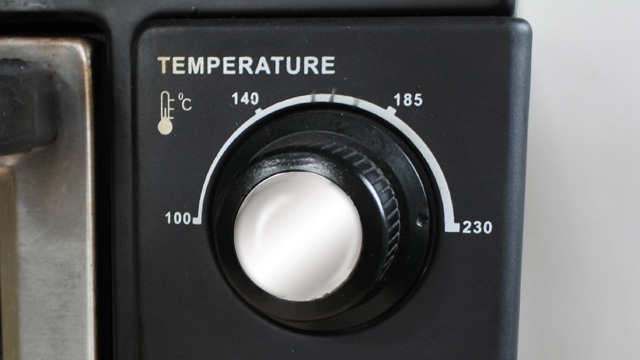 The temperature knob on your oven should tell you exactly how hot your oven is running.
