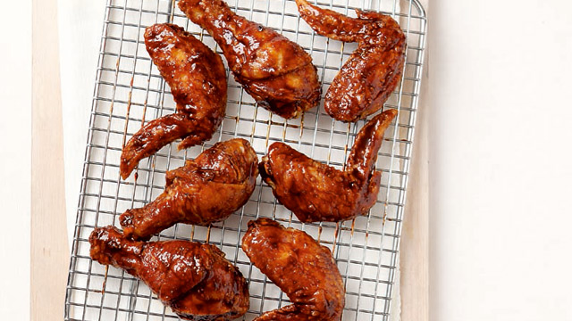Korean-Style Fried Chicken with Soy-Garlic Glaze